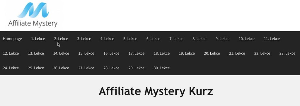 Affiliate mystery