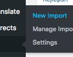 V administraci vašeho webu vyberte v bočním panelu sekci All Import a New Import.