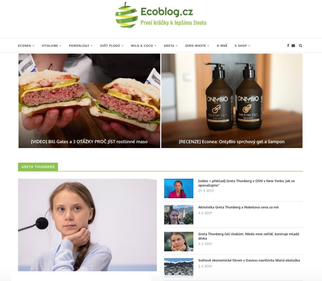 Ecoblog.cz - první krůčky k lepšímu životu